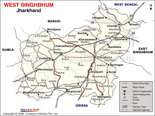 westsinghbhum, Chaibasa Jharkhand , about, map