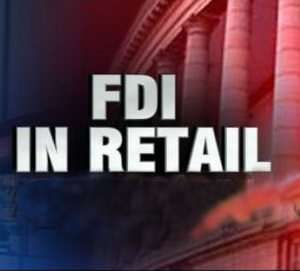 FDI in multi brand retail,Chief Minister Arjun Munda,FDI Logo