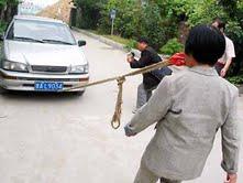Pulling a car,Meet Yang Jinlong,China Pulling a car by teeth