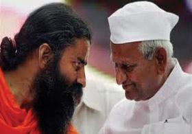 Anna Hazare,Ramdev Baba