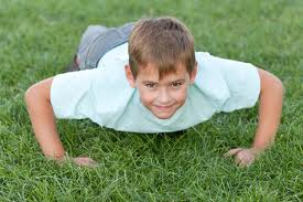 push ups exercise by kid