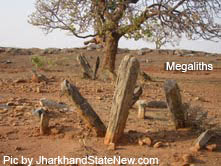 Stone sculptures,megalith,Budha stupas recovered in Itkhori Jharkhand,Mesolithic