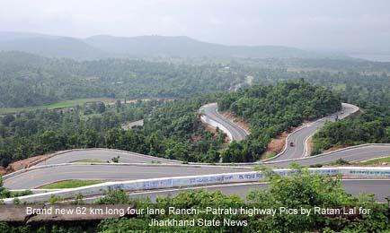 Munda inaugurates highway, Ranchi to patratu highway,Arjun Munda
