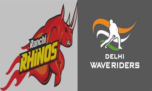 Delhi Waveriders and Ranchi Rhinos