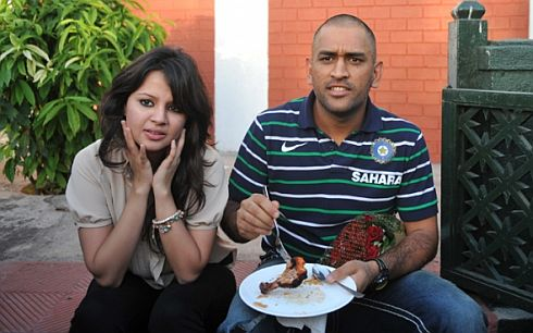 Sakshi and Dhoni