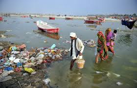 Representational Picture showing polluted river Ganga in Jharkhand