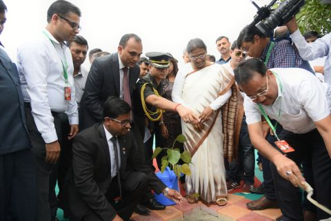 Junior Chamber International opened the 21rst version of their annual trade fair, Expo Utsav-2016, at Morahabadi Maidan in Ranchi, with a greener point of view on Thursday. The event was inaugurated by Jharkhand Governor Draupadi Murmu who planted a sapling of Peepal tree to mark the event. The fair carries many stalls,each displaying the latest products available in the market in India including Jharkhand. The trade exhibition was participated by JCI Ranchi unit office bearers and distinguished guests including Governor's Principal Secretary S.K.Satapathy who appreciated them.