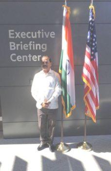 Picture shows Jharkhand CM Raghubar Das at Hewlett Packard Enterprise corporate headquarter office at Palo Alto near San Fransciscoon September 30,2016