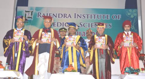 *Picture shows Jharkhand Governor Draupadi Murmu participating in the RIMS' First Graduation Ceremony in Ranchi on October 18,2016.