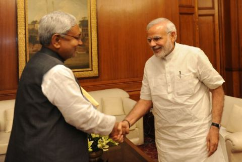 *Picture courtesy 'upload.wikimedia.org' shows a file picture showing  Bihar CM Nitish Kumar meeting PM Narendra Modi.